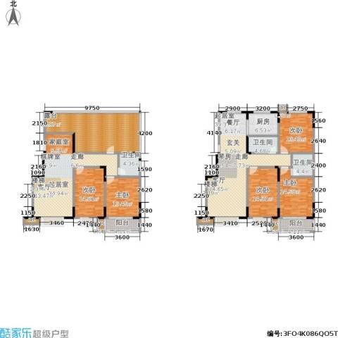 军蔷苑5室0厅3卫1厨229.00㎡户型图