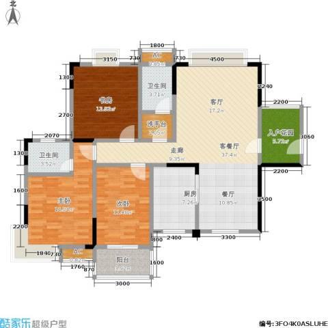 西点公园里3室1厅2卫1厨148.00㎡户型图