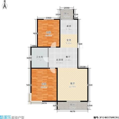 航翠园2室0厅1卫0厨100.88㎡户型图