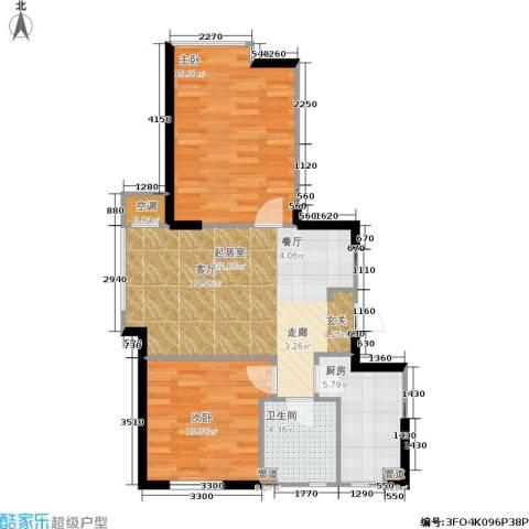 佰世雅阁2室0厅1卫1厨83.00㎡户型图