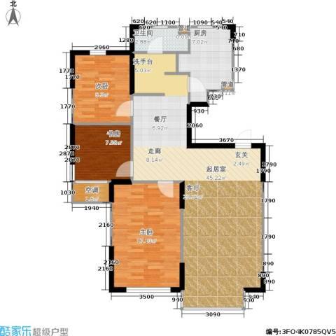 佰世雅阁3室0厅1卫1厨125.00㎡户型图