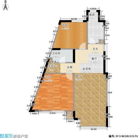 佰世雅阁2室0厅1卫1厨108.00㎡户型图