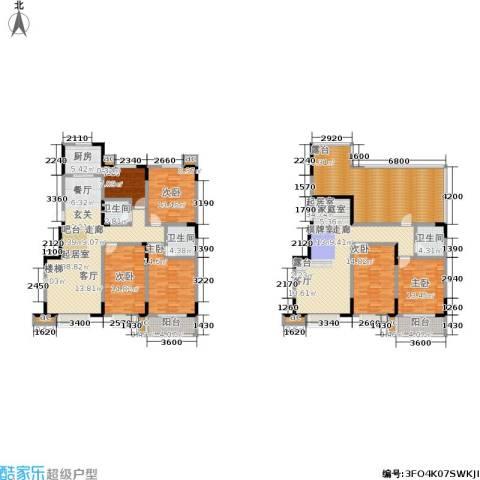 军蔷苑6室0厅3卫1厨235.00㎡户型图