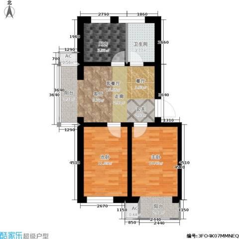 金汇雅居2室1厅1卫1厨93.00㎡户型图