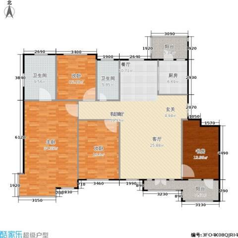 豪森茗家4室1厅2卫1厨173.00㎡户型图