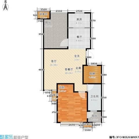 阿尔卡迪亚1室1厅1卫1厨79.00㎡户型图