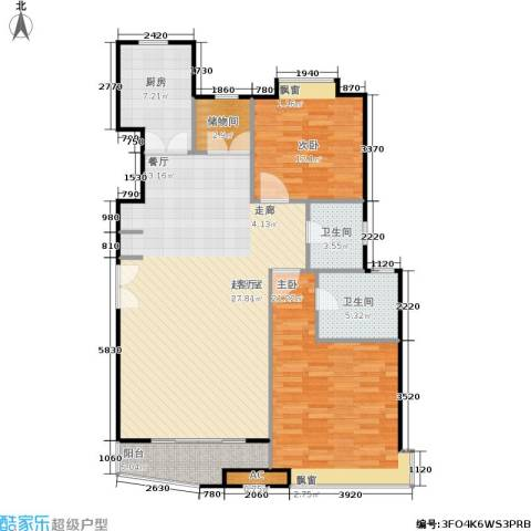 大上海国际花园二期2室0厅2卫1厨136.00㎡户型图