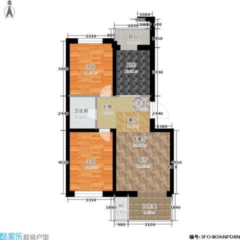 金汇雅居2室1厅1卫1厨102.00㎡户型图