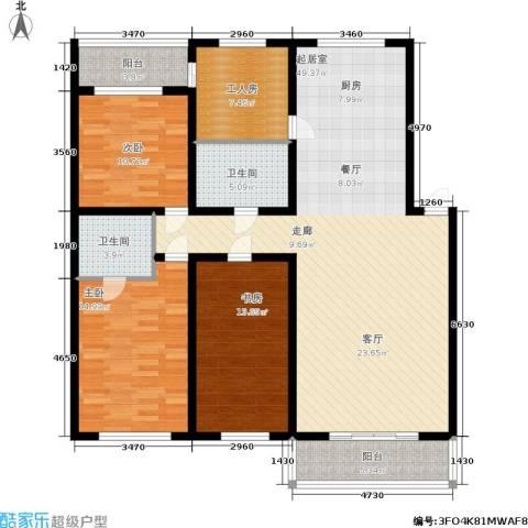 阳光嘉园3室0厅2卫0厨162.00㎡户型图