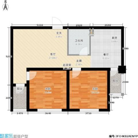 金色华庭2室0厅1卫0厨74.00㎡户型图