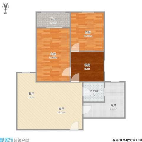 新市南路515弄小区3室1厅1卫1厨105.00㎡户型图