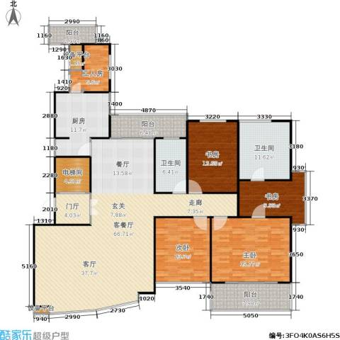 中茵皇冠4室1厅2卫1厨200.00㎡户型图