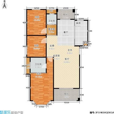长房星城世家 长房3室0厅2卫1厨136.00㎡户型图