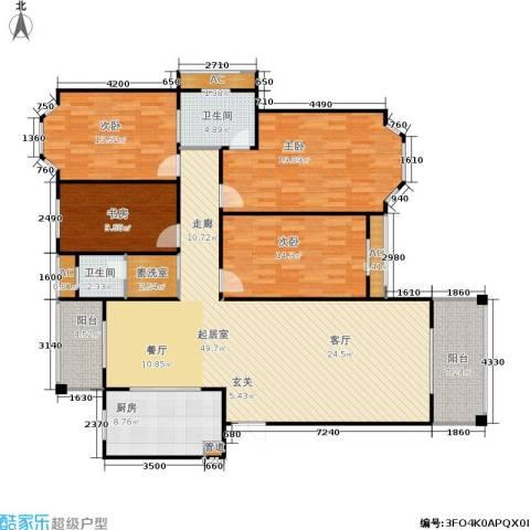 长房星城世家 长房4室0厅2卫1厨151.00㎡户型图