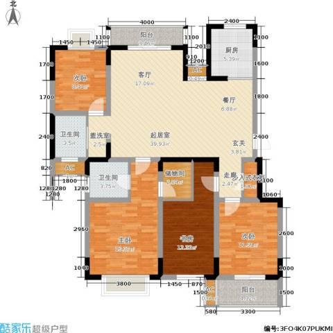 龙湖文馨苑4室0厅2卫1厨115.00㎡户型图