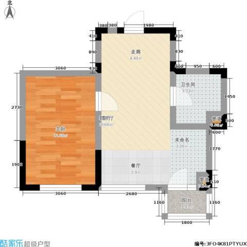 橄榄城1室1厅1卫0厨55.00㎡户型图