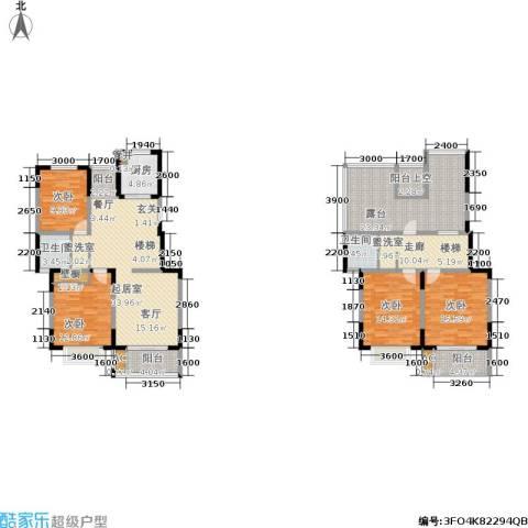 龙湖文馨苑4室0厅2卫1厨160.00㎡户型图