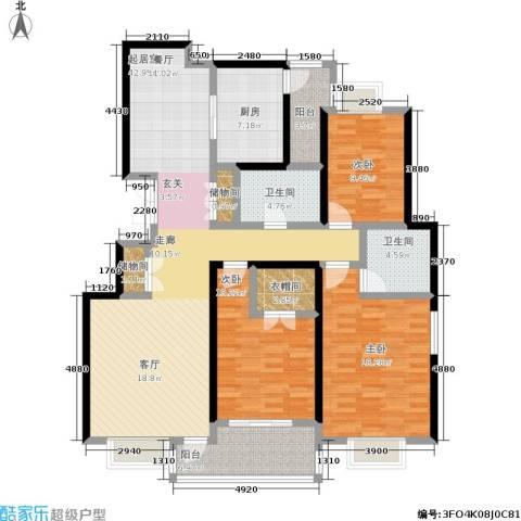 新世界花园3室0厅2卫1厨137.00㎡户型图