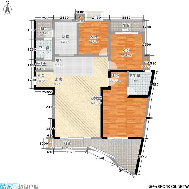 ART国际公馆户型3室2卫1厨