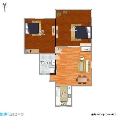 共和三村2室1厅1卫1厨85.00㎡户型图