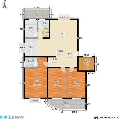 兴达花园3室0厅2卫1厨150.00㎡户型图