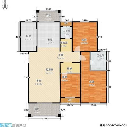 长房星城世家 长房3室0厅2卫1厨130.00㎡户型图