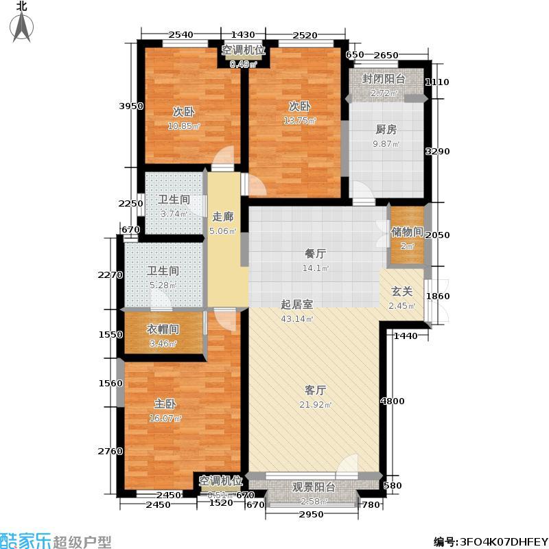 国际城国际城城市之心158.03㎡70号楼d-1户型