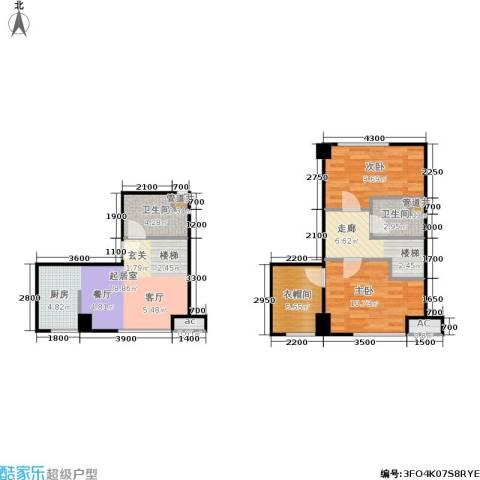 天启花园2室0厅2卫0厨60.86㎡户型图