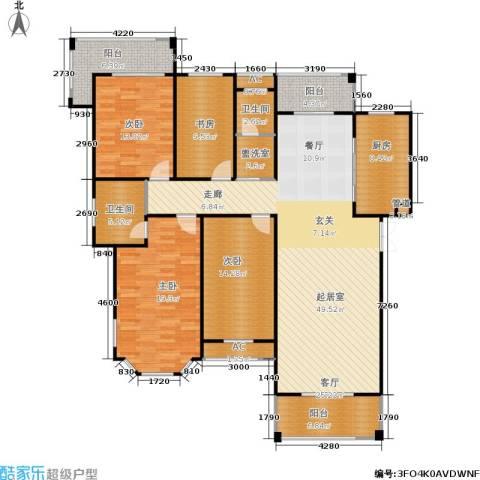 长房星城世家 长房4室0厅2卫1厨156.00㎡户型图