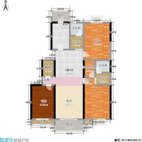 天福园3室0厅2卫1厨128.00㎡户型图