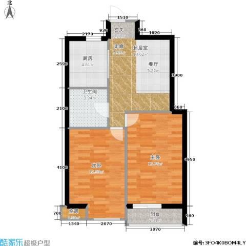 佰世雅阁2室0厅1卫1厨63.00㎡户型图
