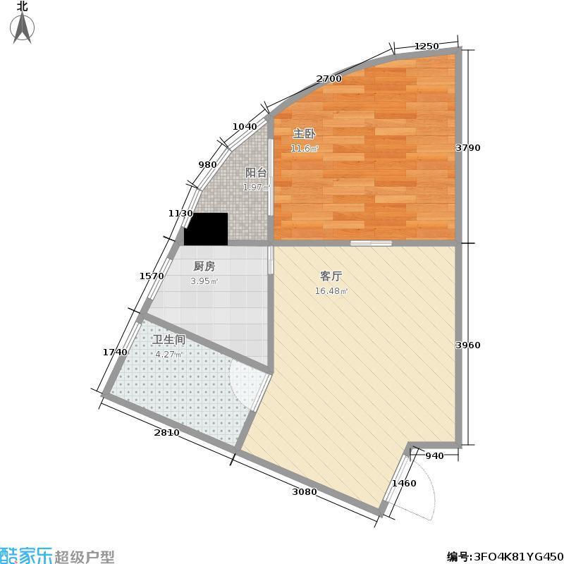 西湘郡邸51.05㎡f户型