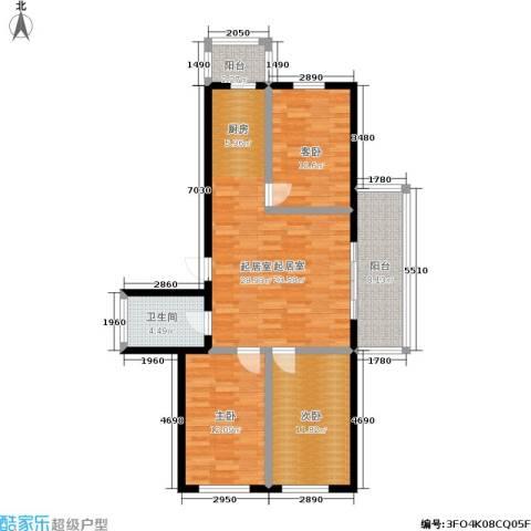吉星商住城3室0厅1卫0厨80.00㎡户型图