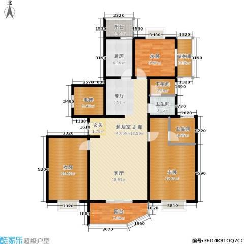兴达花园3室0厅3卫1厨130.00㎡户型图
