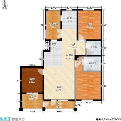 保利上林湾一期3室0厅2卫0厨131.00㎡户型图