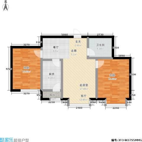 幻景家园2室0厅1卫1厨100.00㎡户型图