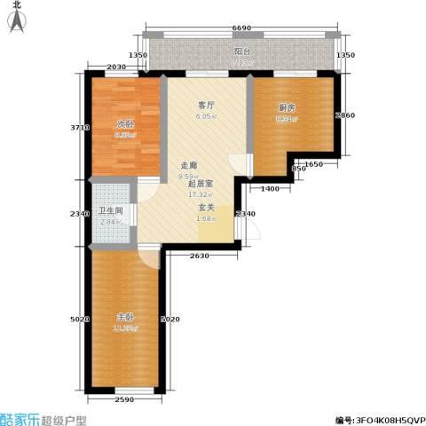 吉星商住城2室0厅1卫1厨65.00㎡户型图