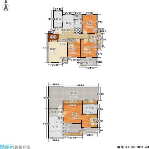 金澄新天地4室0厅2卫1厨221.00㎡户型图