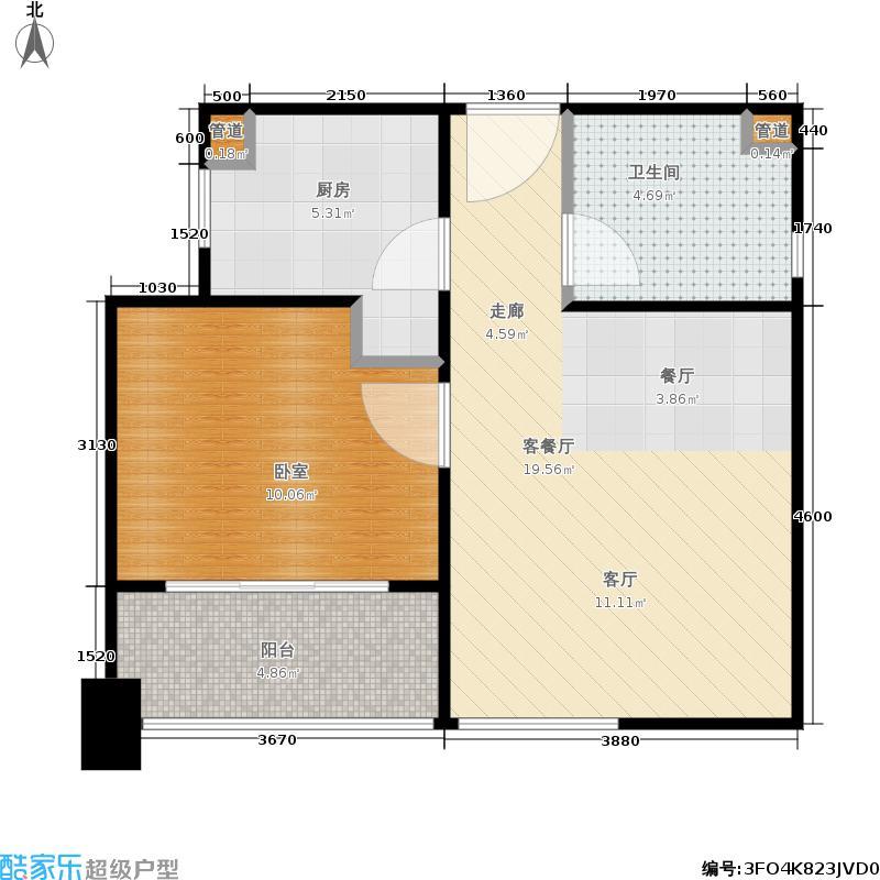 铂晶公寓49.00㎡房型户型