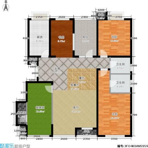 万科城三期一区2室1厅2卫1厨185.00㎡户型图