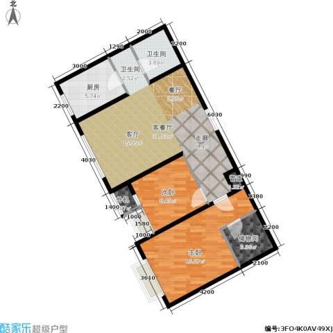 万科城三期一区2室1厅1卫1厨99.00㎡户型图
