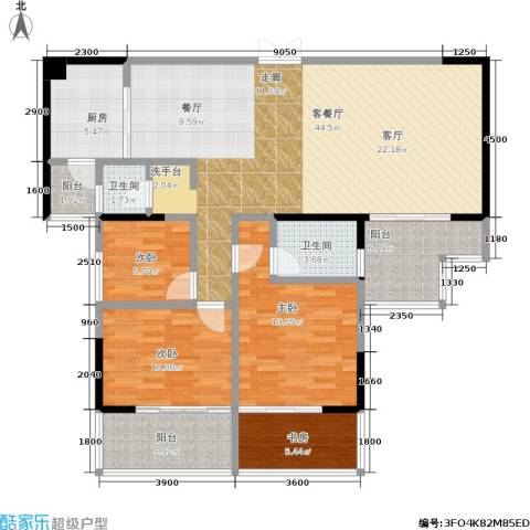 明珠丽园 沃邦・菁华源4室1厅2卫1厨143.00㎡户型图