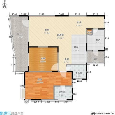 东和春天(E、F组团)2室0厅2卫1厨110.00㎡户型图
