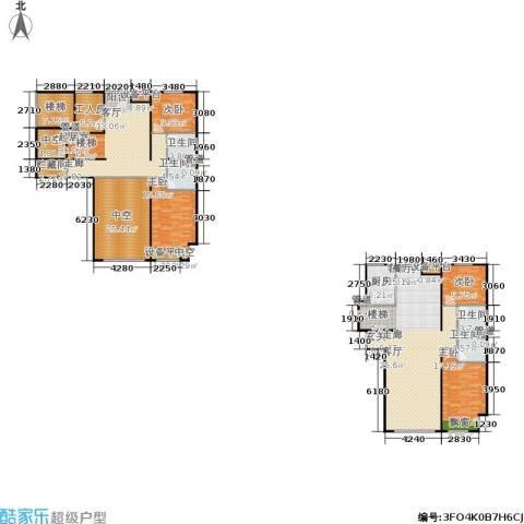 阳光100国际新城一期4室1厅4卫1厨214.56㎡户型图