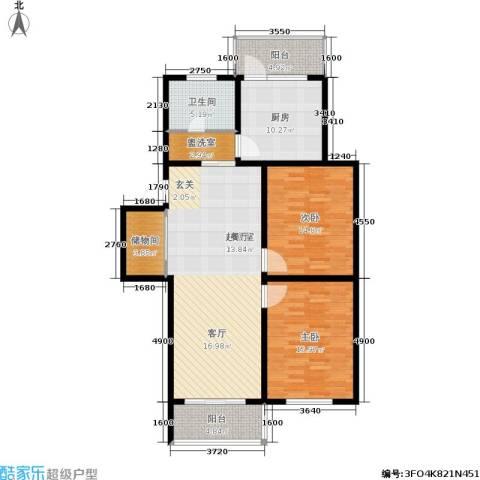 仁和翠苑2室0厅1卫1厨96.05㎡户型图