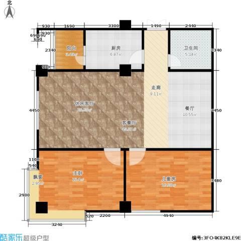 白马世纪广场2室1厅1卫1厨101.95㎡户型图