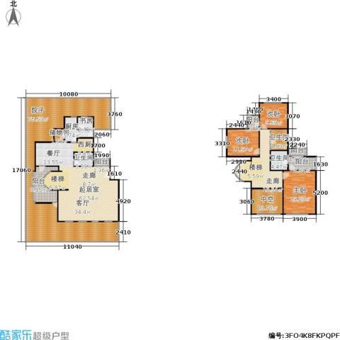 万城华府4室0厅3卫1厨267.00㎡户型图