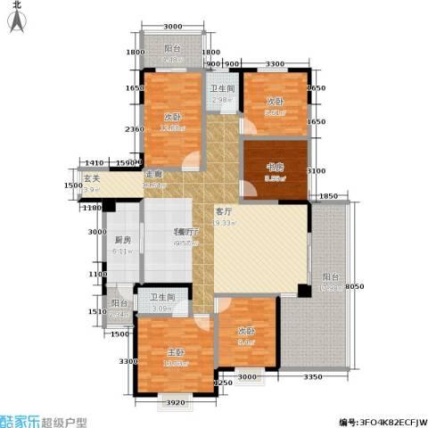 明珠丽园 沃邦・菁华源5室1厅2卫1厨192.00㎡户型图