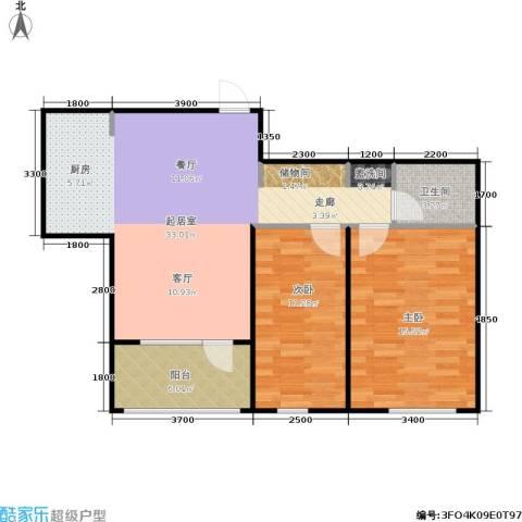 朗诗国际街区2室0厅1卫0厨70.00㎡户型图
