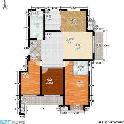 国信・阅景龙华3室0厅2卫1厨147.00㎡户型图